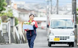 ヨシケイ福山 配送スタッフの仕事 お届け、新規活動