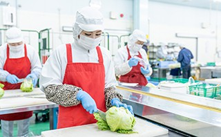 ヨシケイ福山 製造スタッフの仕事 食材加工
